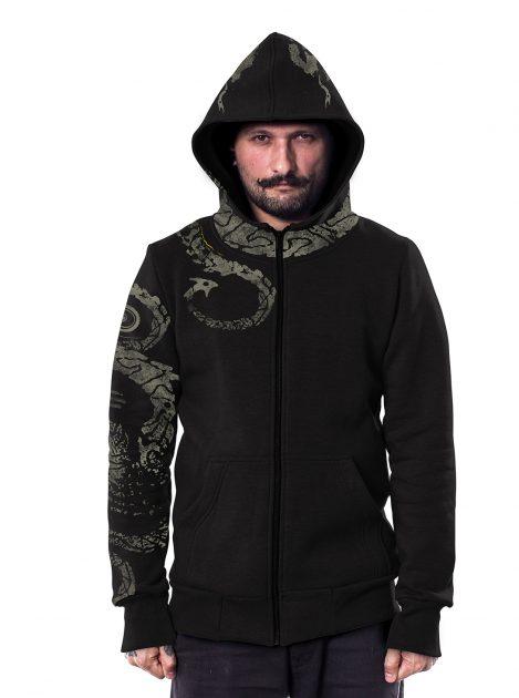 Dragon hoodie blk